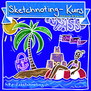 Sketchnoting Kurs SPASS, Thema Sommer & Ferien